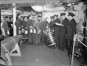 RUM RATION ABOARD HMS KING GEORGE V, 1940
