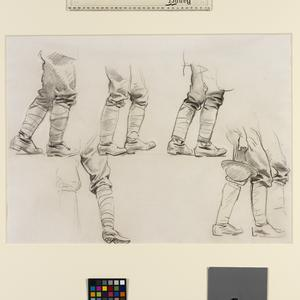 Study for 'Gassed' Five studies of legs