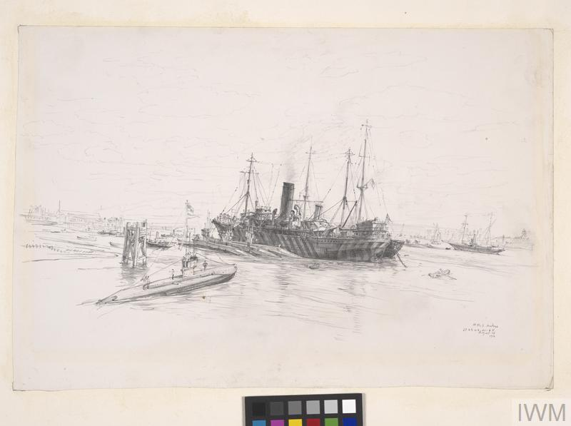 HMS Ambrose and Attached Submarines