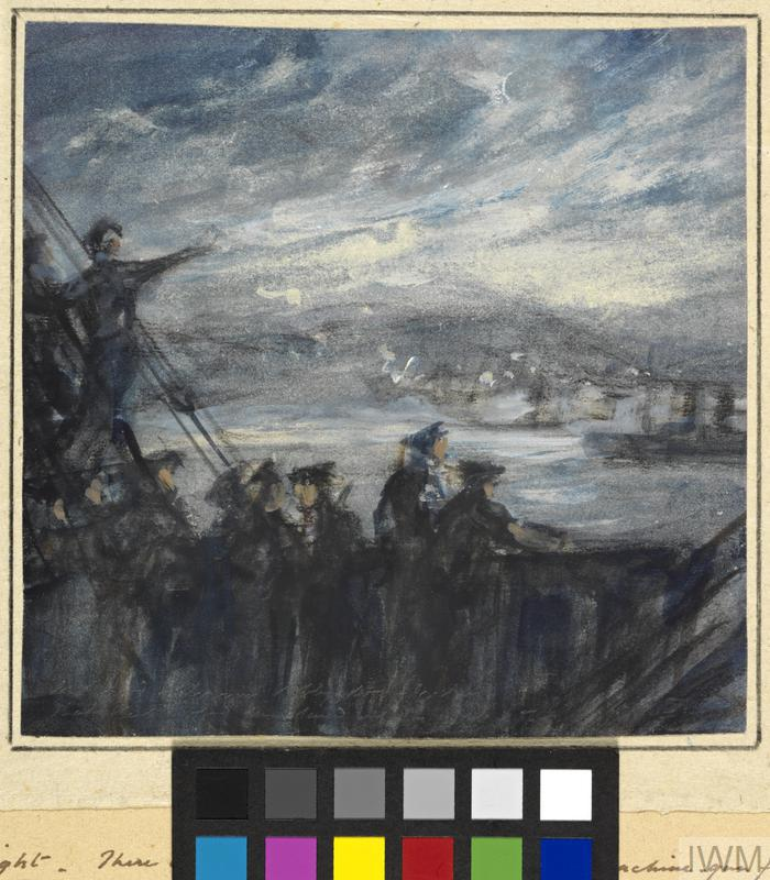 The Battle of the Landings - ANZAC - Night, April 25th 1915