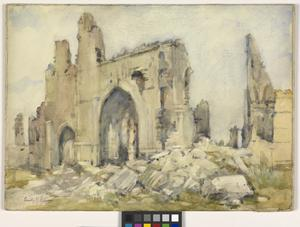 The Cloth Hall, Ypres, 1919