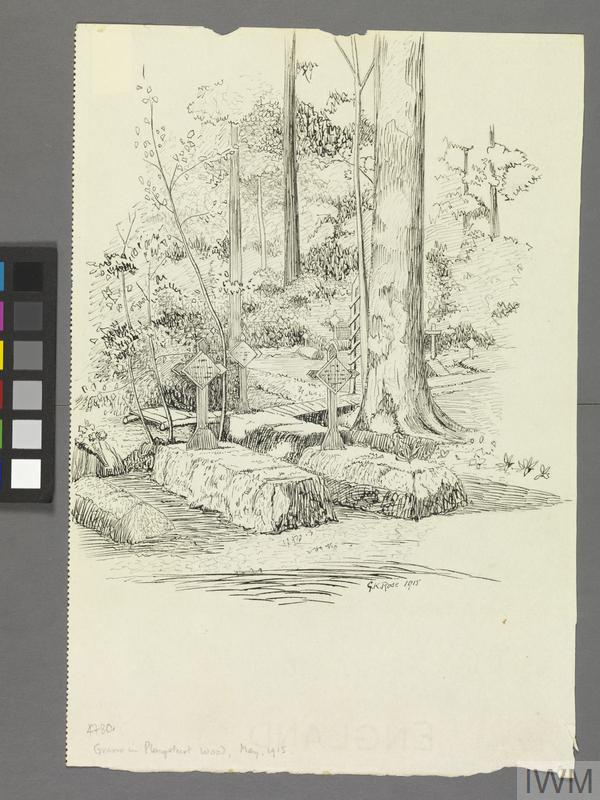 Graves in Ploegsteert Wood, May 1915