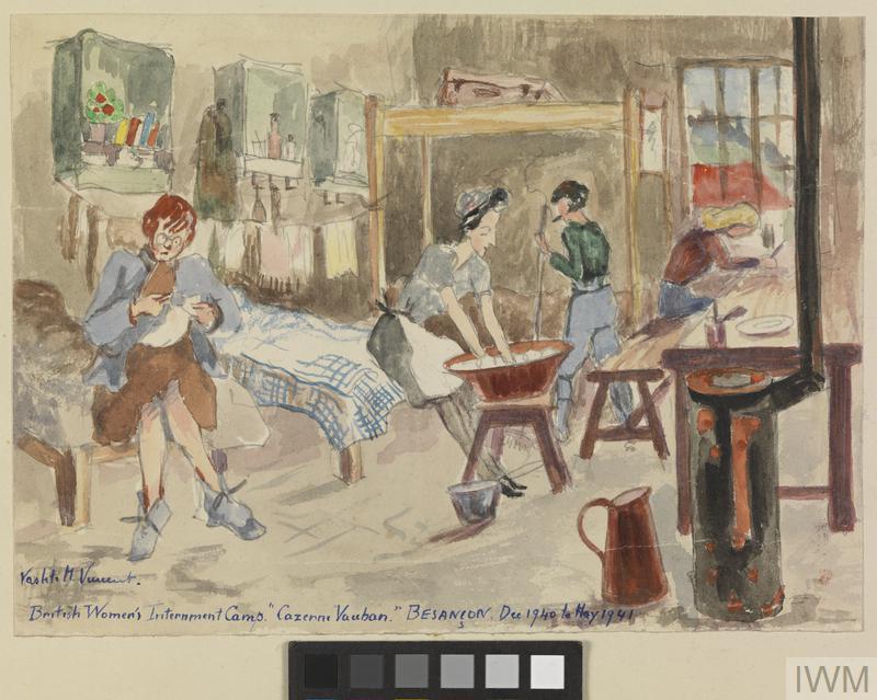 British Women's Internment Camp, Caserne Vauban, Besançon. December 1940 to May 1941