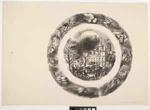 Design for a Wedgwood plate with a barrage balloon