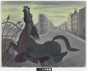 Runaway Horse in an Air-raid alarm, London, Autumn 1939