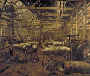 Shop for Machining 15-inch Shells: Singer Manufacturing Company, Clydebank, Glasgow, 1918
