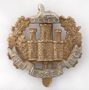 badge, headdress, British, The Essex Regiment, other ranks