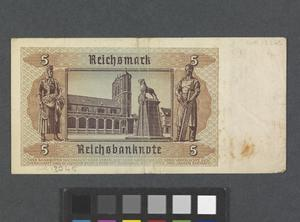 national currency, Reichsbanknote, 5 Reichsmark, Germany