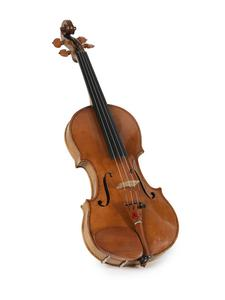 Violin, with bow and case ('The Western Front Violin')