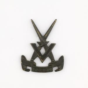 badge, headdress, British, V Force