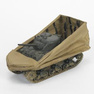 Armoured Fighting Vehicle Scale Model, M4 Sherman DD (Duplex Drive) tank: American & British