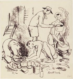 Cooking Up, Changi, 1942