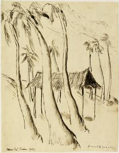Palm Trees Near the Prison, Singapore 1942