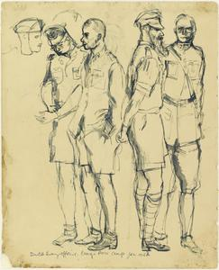 Dutch Army Officers, Changi Prisoner of War Camp, Singapore, January 1942