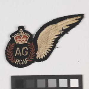 badge, trade, Canadian, half-wing Air Gunner, Royal Canadian Air Force & RCAF