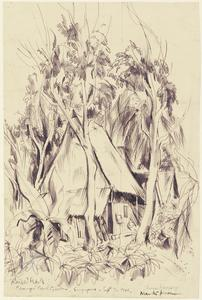 Chinese Kampong near the Prison, Changi Gaol Gardens, Singapore, 7 September 1944