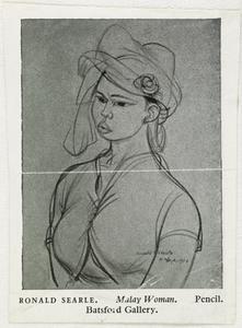 A Malay Woman, 1945