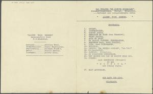 Entertainment: Various Notes and Sketches, Changi Palladium, The Barn, Sime Road, Coconut Grove, Changi Gaol etc., 1942 - 1945