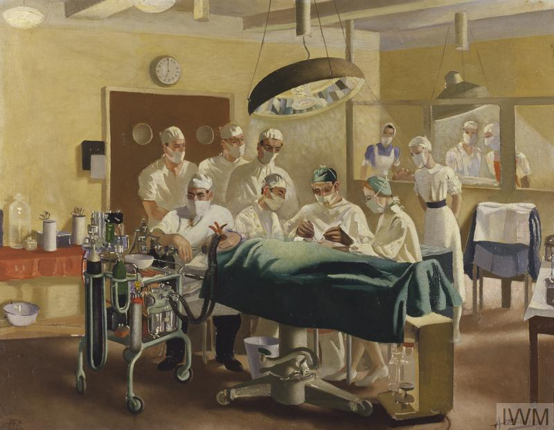 Archibald McIndoe : Consultant in Plastic Surgery to the Royal Air Force, operating at the Queen Victoria Plastic and Jaw Injury Centre, East Grinstead