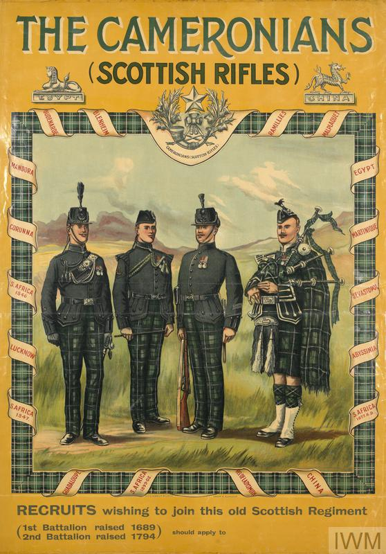 the cameronians  scottish rifles   art iwm pst 1644