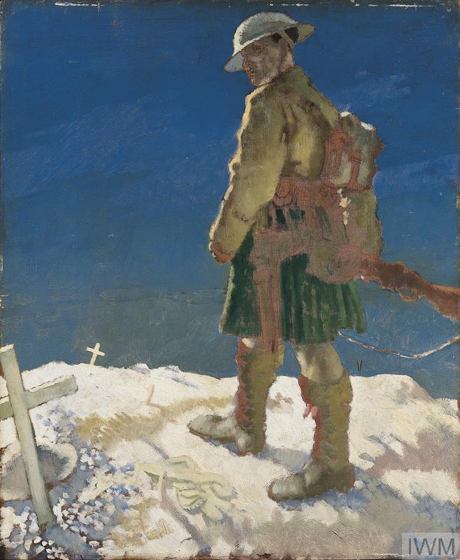 A Highlander Passing a Grave