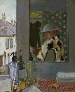 Ready To Start. Self Portrait, 1917