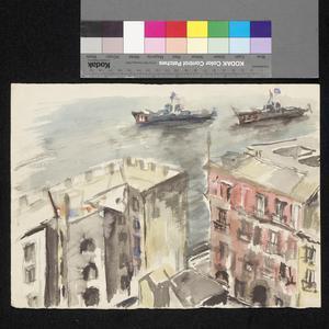 Warships at Naples, 1944