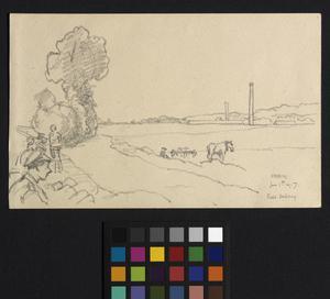 Hesdin - field sketching
