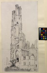 The Cathedral Tower, Ypres, 13th August 1916
