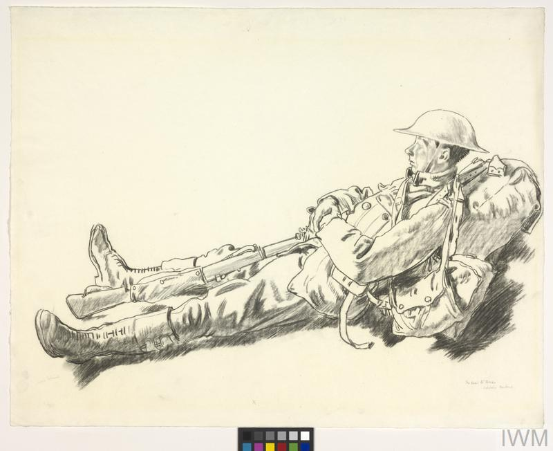 A Soldier Resting: The Road to Arras