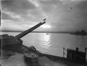 HMS VICTORIOUS AT SCAPA FLOW, SCOTLAND, DECEMBER 1941.
