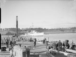 THE AMERICAN BASE UNDER CONSTRUCTION AT LISAHALLY,  NEAR LONDONDERRY,  NORTHERN IRELAND, 28 JANUARY 1942