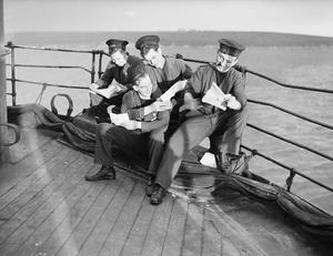 LIFE ON BOARD HMS DUNLUCE CASTLE, HOME FLEETANCHORAGE, DECEMBER 1941