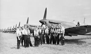 SUPERMAINE SEAFIRE PILOTS AT RNAS YEOVILTON, 22 JANUARY 1943