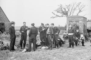 NO. 150 WING ROYAL AIR FORCE AT NEWCHURCH ADVANCED LANDING GROUND, 1944.