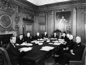THE BOARD OF ADMIRALTY. APRIL 1960, AT THE BOARD MEETING, THE ADMIRALTY, WHITEHALL.