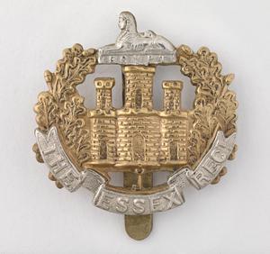 badge, headdress, British, Essex Regiment