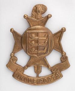 badge, headdress, British, 5th (Cinque Ports) Territorial Battalion, The Royal Sussex Regiment, other ranks