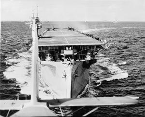 HMS BITER ESCORTS A CONVOY, MARCH 1944