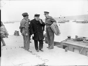 WINSTON CHURCHILL IN ARROMANCHES, FRANCE, 21 TO 23 JULY 1944