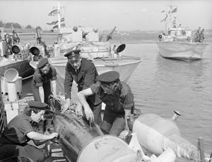 AT THE LIGHT COASTAL FORCES BASE HMS HORNET, GOSPORT, 15 AUGUST 1944