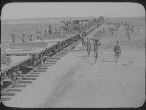 MESOPOTAMIA - INDIAN TROOPS BUILD A RAILWAY [Allocated Title]