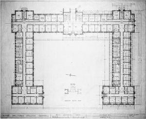 CONSTRUCTION OF THE ROYAL AIR FORCE COLLEGE, CRANWELL