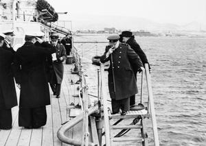 PRIME MINISTER WINSTON CHURCHILL DURING HIS VISIT TO GREECE, 28 DECEMBER 1944