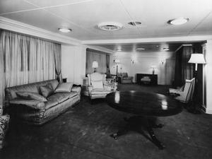 INTERIOR VIEWS OF SS GOTHIC, LINER REQUISITIONED FOR ROYAL USE BY HRH PRINCESS ELIZABETH AND THE DUKE OF EDINBURGH. JANUARY 1952.