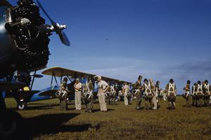 BRITISH AIRMEN TRAINING WITH THE EMBRY-RIDDLE COMPANY AT CARLSTROM FIELD, ARCADIA, FLORIDA, AMERICA, JUNE 1941