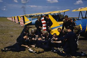 BRITISH AIRMEN TRAINING WITH THE EMBRY-RIDDLE COMPANY AT CARLSTROM FIELD, ARCADIA, FLORIDA, AMERICA, SUMMER 1941