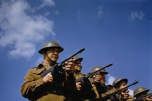 CANADIAN TROOPS IN ENGLAND, 1942