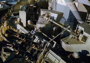 ON BOARD A BATTLESHIP, NOVEMBER 1942