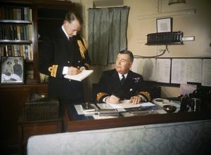 REAR ADMIRAL SIR ROBERT L BURNETT, CB, OBE, NOVEMBER 1942